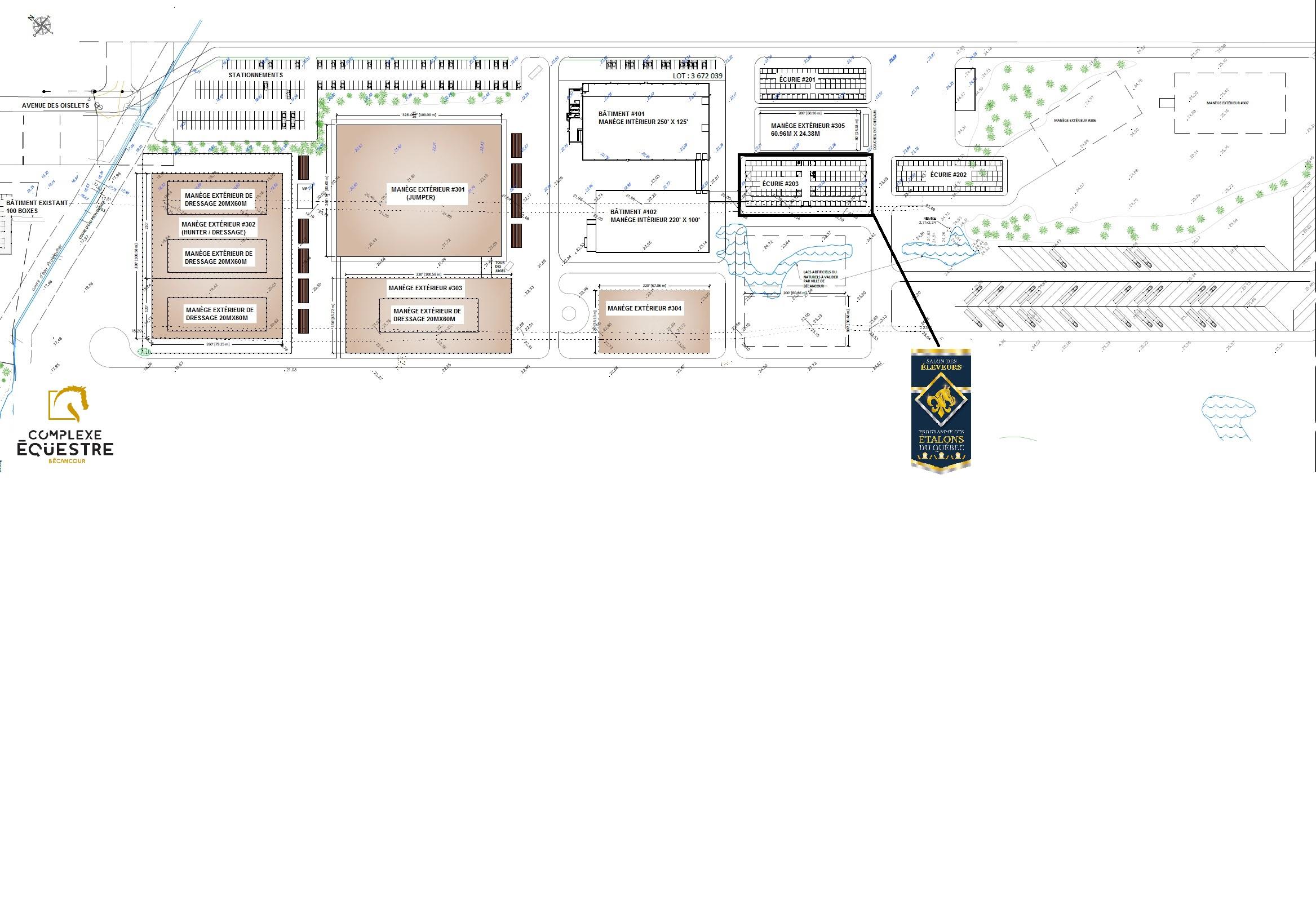 plan du site Complexe Équestre Bécancour
